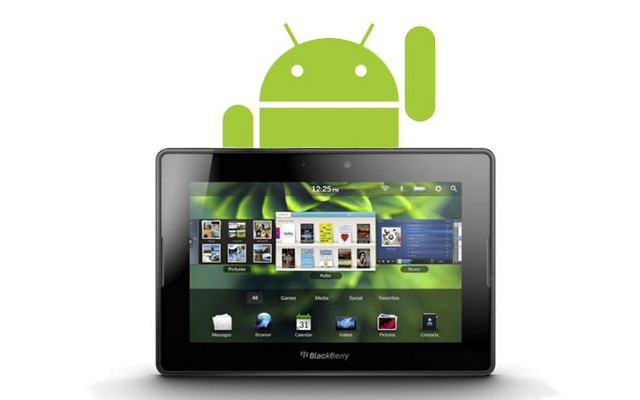 BlackBerry PlayBook 20, Android Pirate Applications, Research in Motion