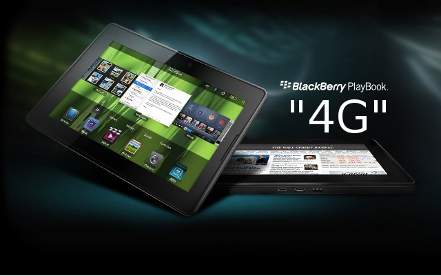 4G PlayBook, RIM BlackBerry, LTE Tablet