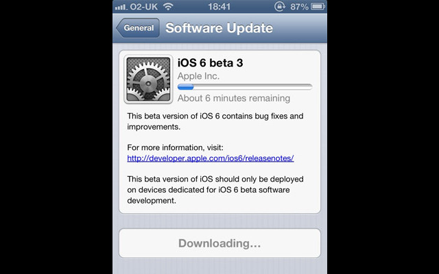 Apple iOS 6 Beta 3, iOS Development, Developer Access