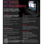 BlackBerry PlayBook OS 2.1 Rollout, 4G LTE PlayBook Launch Nears