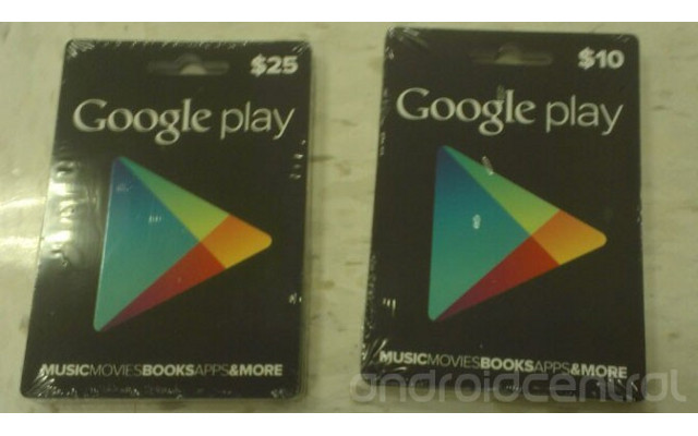 Google Play Store Card