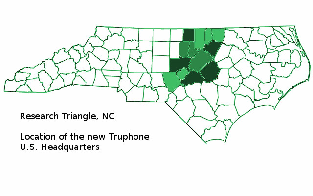 Research Triangle, NC, US Truphone Headquarters, Tru SIM and App