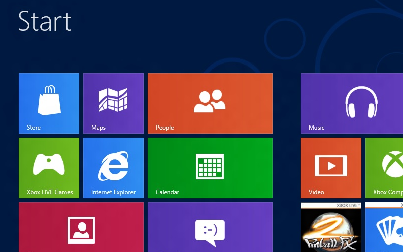 Windows 8 UI, modern metro interface, Microsoft W8