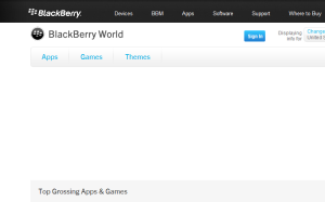 BlackBerry App World, BB World, BB Apps and Music