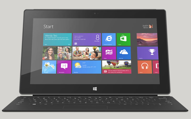 Windows 8 Pro Surface, Surface RT, Microsoft Modern UI