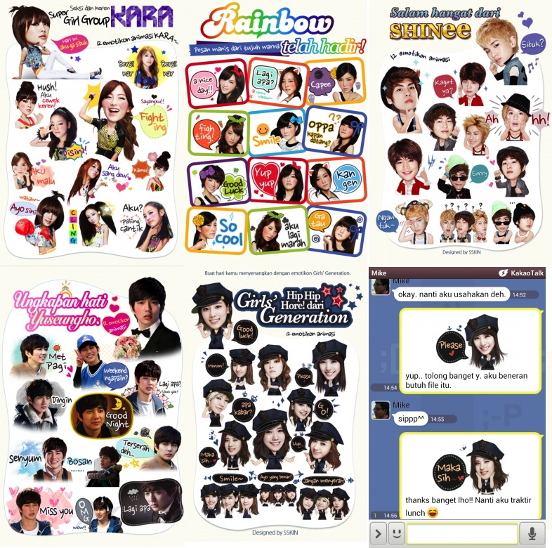Kakao Talk Kpop Stickers