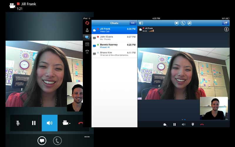 Microsoft Lync, Lync 2013 mobile app, VoIP and Messaging