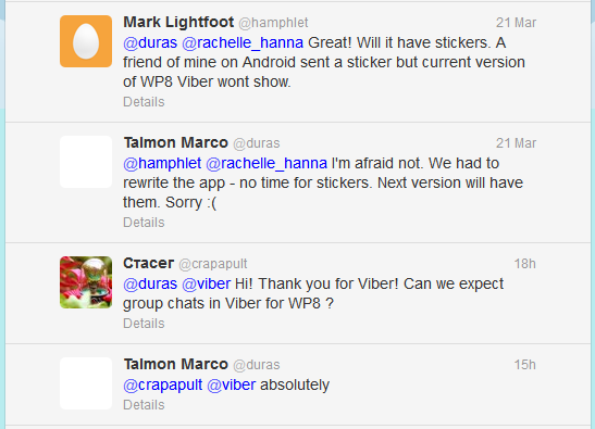 Viber for WP8, Viber App for Windows Phone 8 Features, Viber Calling and Messaging