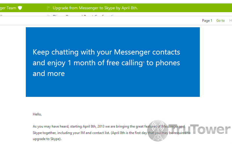 MSN Messenger, Windows Live Messenger, Skype