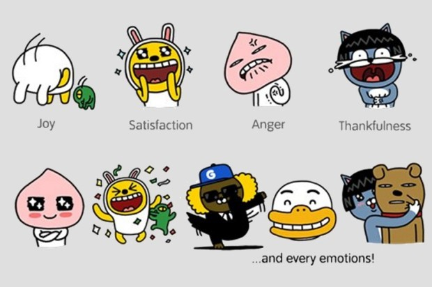 KakaoTalk Extends New Kakao Friends Stickers to Android, iPhone, and BlackBerry