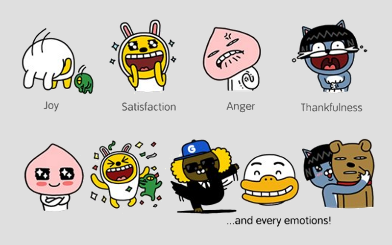 KakaoTalk Stickers, Stickers for apps, VoIP messaging