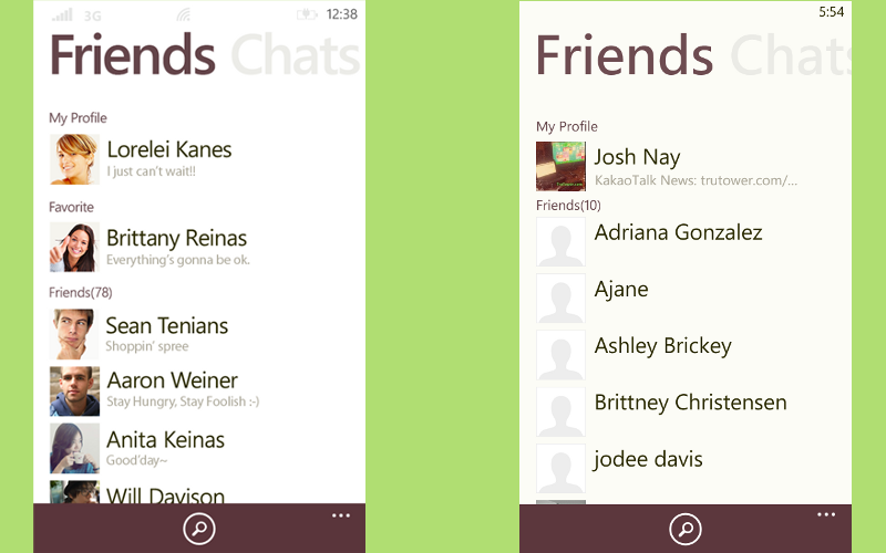KakaoTalk for WP, Windows Phone messaging apps, Application for text