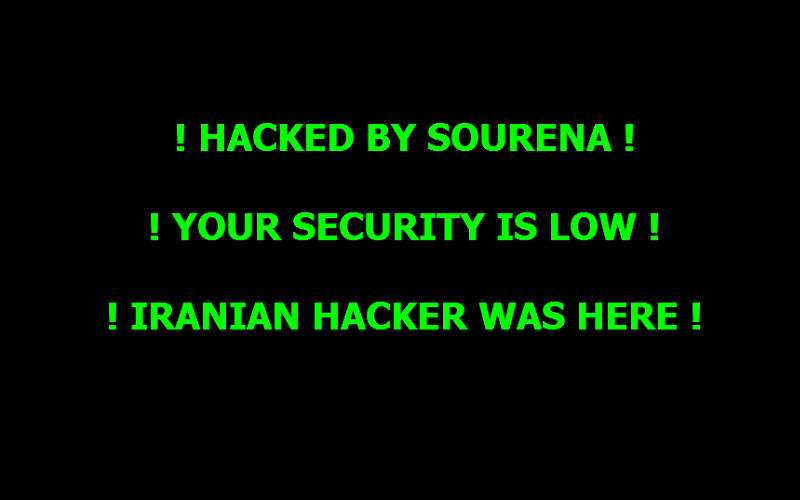 Hacked Website