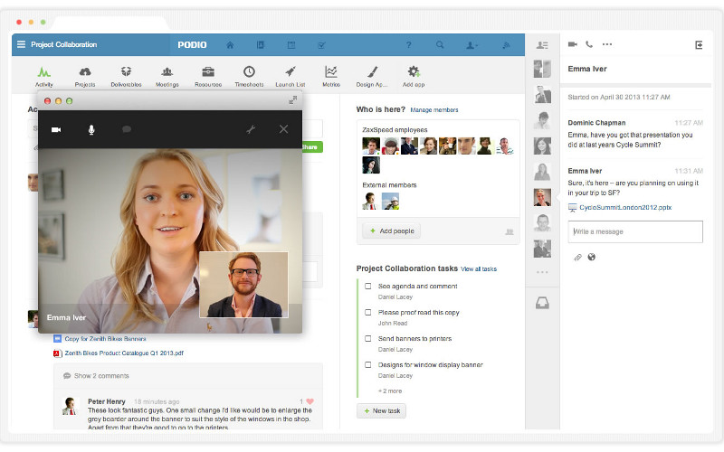 Podio by Citrix, Video Calling Apps, IM apps