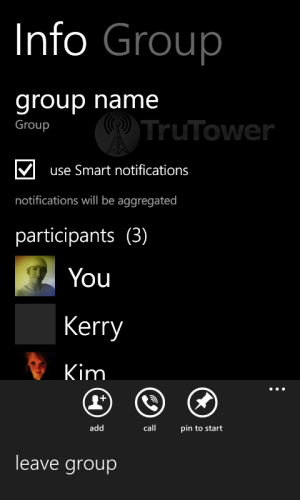 Viber for WP8, Windows Phone IM, Group Chat