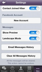 Viber for iPhone, iPhone settings, Viber app