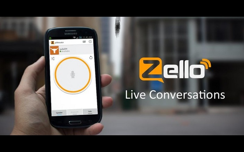 Zello PTT, Push to talk, Walkie talkie