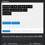BlackBerry Messenger Landing Page Hints at Imminent iPhone and Android Launch