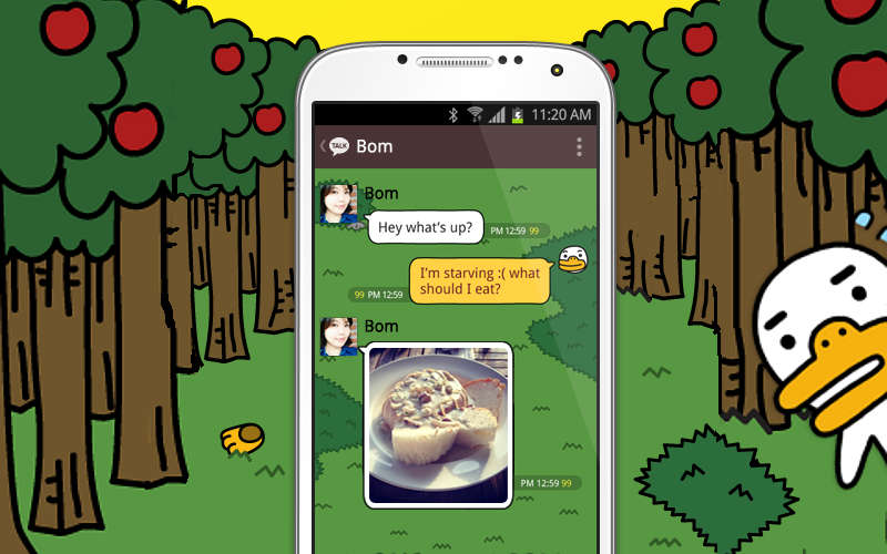 KakaoTalk on Android, messaging apps, free text and calls