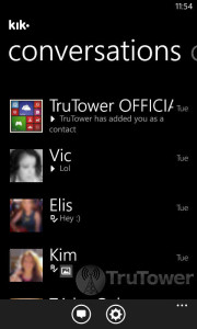 Kik for Windows Phone, Find Friends in Kik, Friend Finder