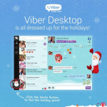 Viber Desktop Update Keeps You Connected With a Holiday Theme While Santa Claus Checks His List