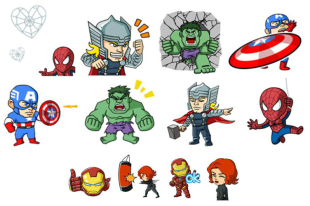 Marvel Super Heroes Arrive in the WeChat Sticker Shop, Available Free Until April 29