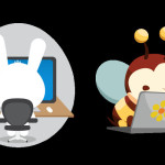 Fluffy and Bitsy Stickers Buzz and Bounce Onto imo Instant Messenger