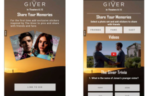 "The Weinstein Company Launches Kik Card for ""The Giver"" Ahead of The Film's August 15 Release"