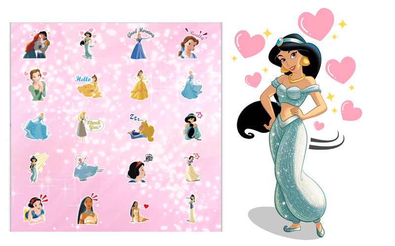 New Sticker Pack Featuring The Disney Princesses Launches