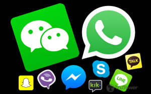 Messaging apps, social media platforms, apps on ios and android