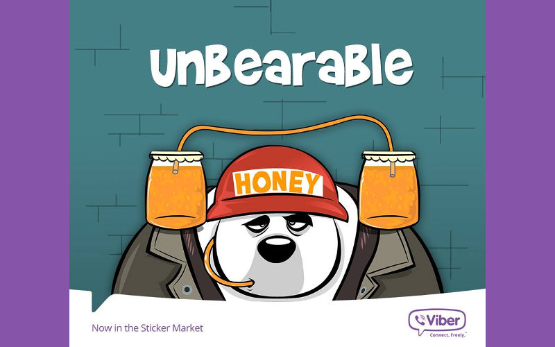 "Viber Launches ""Bear With Me"" Sticker Set in the Viber Sticker Marke..."