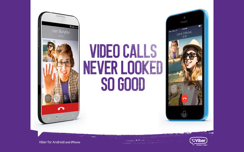 Viber video calls, VoiP video calling, messaging