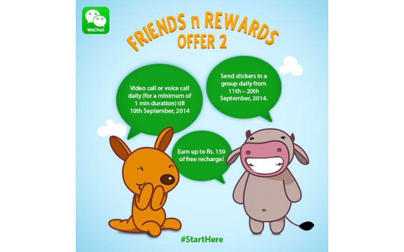 "Get Free Calls With WeChat India's New ""Friends n Rewards"" Cam..."