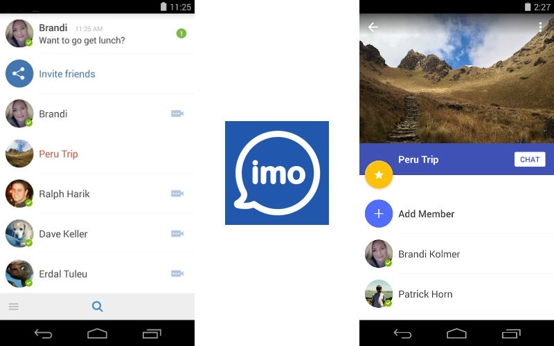 imo Instant Messenger and Material Design on Its Android Application