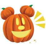 Disney's Mickey Mouse Sneaks Onto the BBM Sticker Shop For Halloween