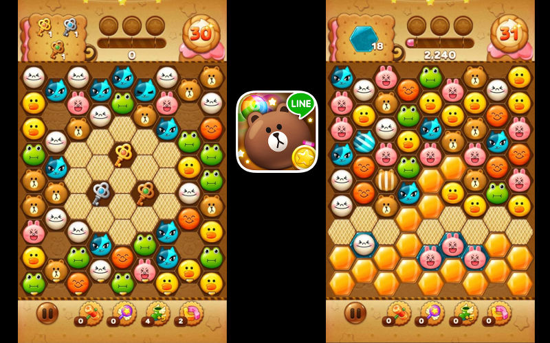 LINE POP, LINE POP 2, Android and iPhone LINE games