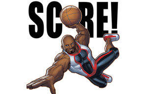 Stickers Depicting Basketball Superstar Shaquille O'Neal Arrive on BBM