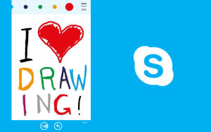 Skype updates, Drawing on Skype app, VoIP and IM