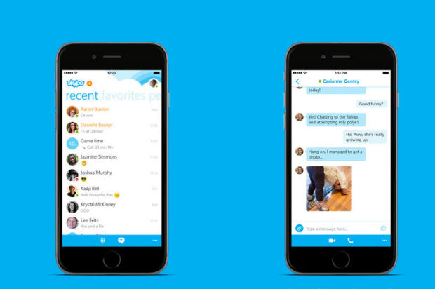 Iphone 6 Skype Skype For Iphone Receives