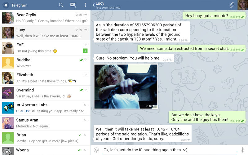 Telegram Messenger Adds Username Support, Snapchat-esk Timer, Tap and Hold Featu...
