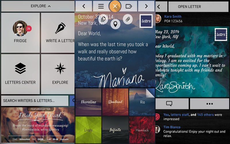 Lettrs, the Digital Letter-Writing Messaging App, Releases Its Application for A...