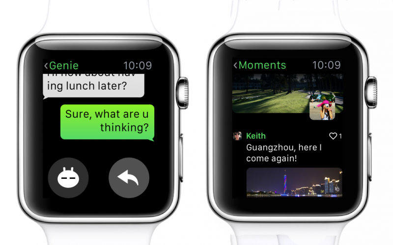WeChat on Apple Watch, iWatch messaging