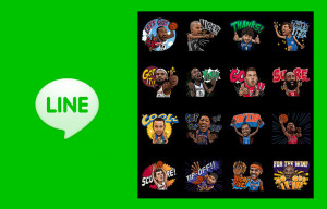 Limited Time LINE Stickers Featuring NBA Favorites LeBron James and Steph Curry Now Available