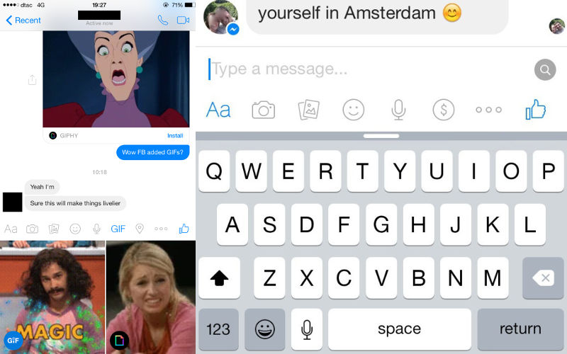how to send gifs in facebook messenger