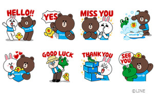 LINE Partners with UNICEF on Stickers: Brown and other LINE Characters Wearing UNICEF Tees