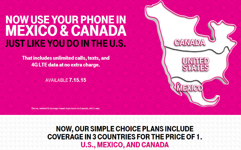 "T-Mobile US's new ""Mobile Without Borders"" Offers Americans An..."