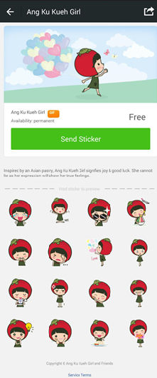 WeChat singapore stickers, WeChat app download, WeChat for mobile phones