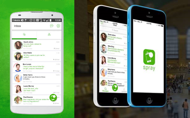 """Spray for iOS and Android brings """"hyperlocal"""" messaging to the foref..."""