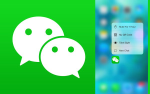 WeChat app, WeChat messaging, social media