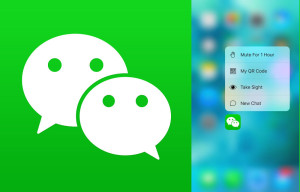WeChat adds 3D Touch to its app for iPhone 6S, 6S Plus